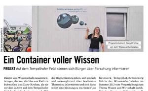 Artikel des Berliner Abendblatts am 8.2.14