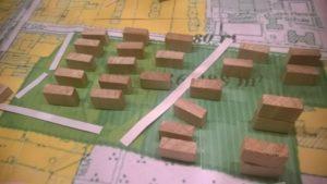 Modell einer Gleichverteilung von Wohnblöcken