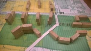 Modell mit Hochhäusern
